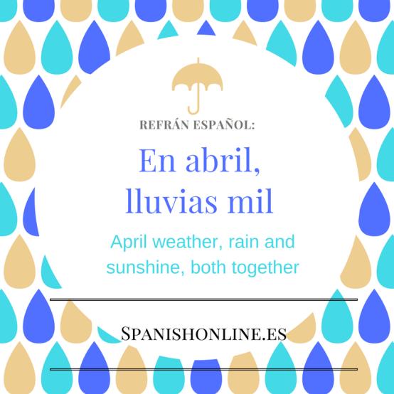 En abril, lluvias mil